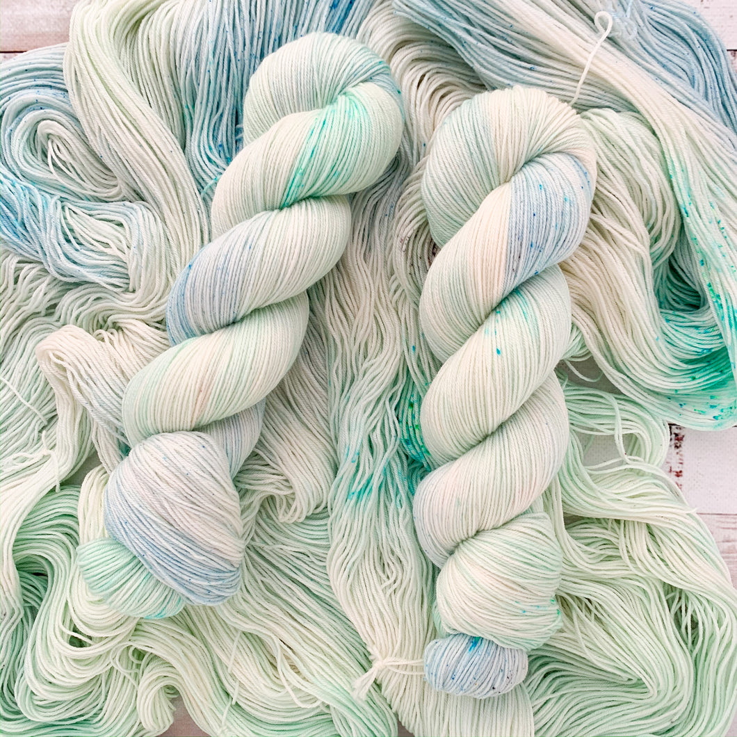 sea glass | 4-ply sock