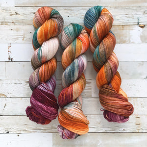 fall is all around | 4-ply sock