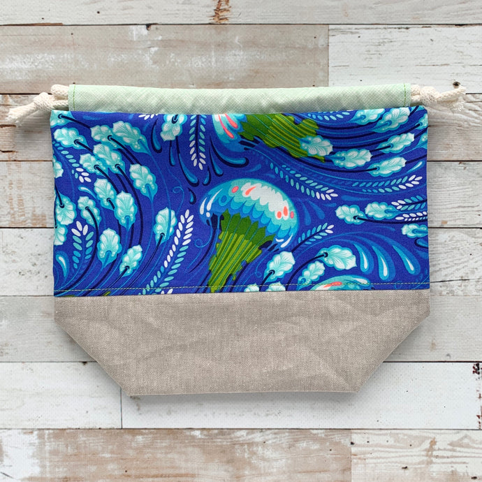 jelly fish | small drawstring project bag