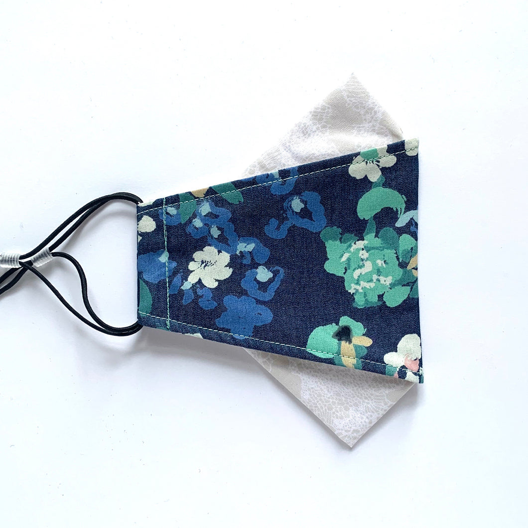 denim floral | masks