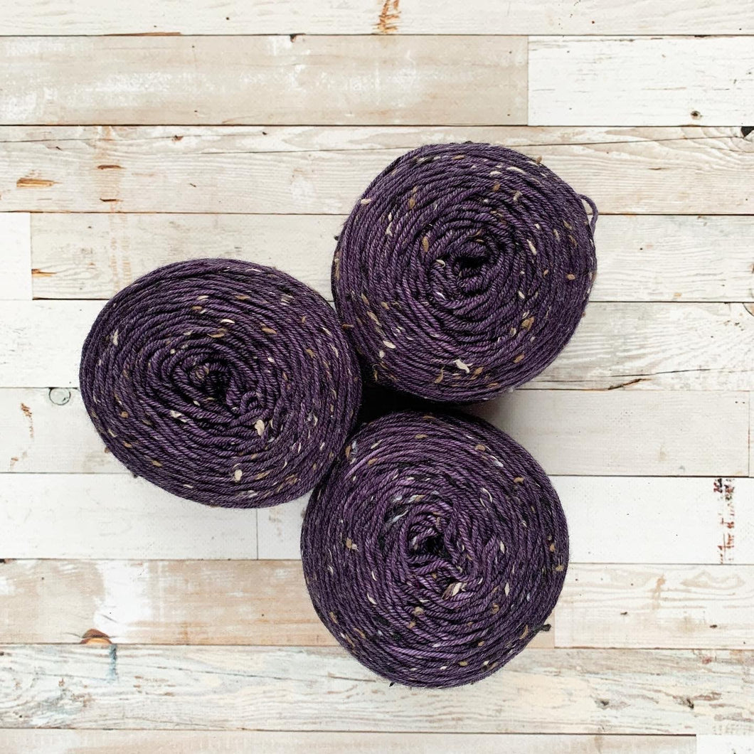 OOAK (one of a kind) - purple (cakes) | tweed DK