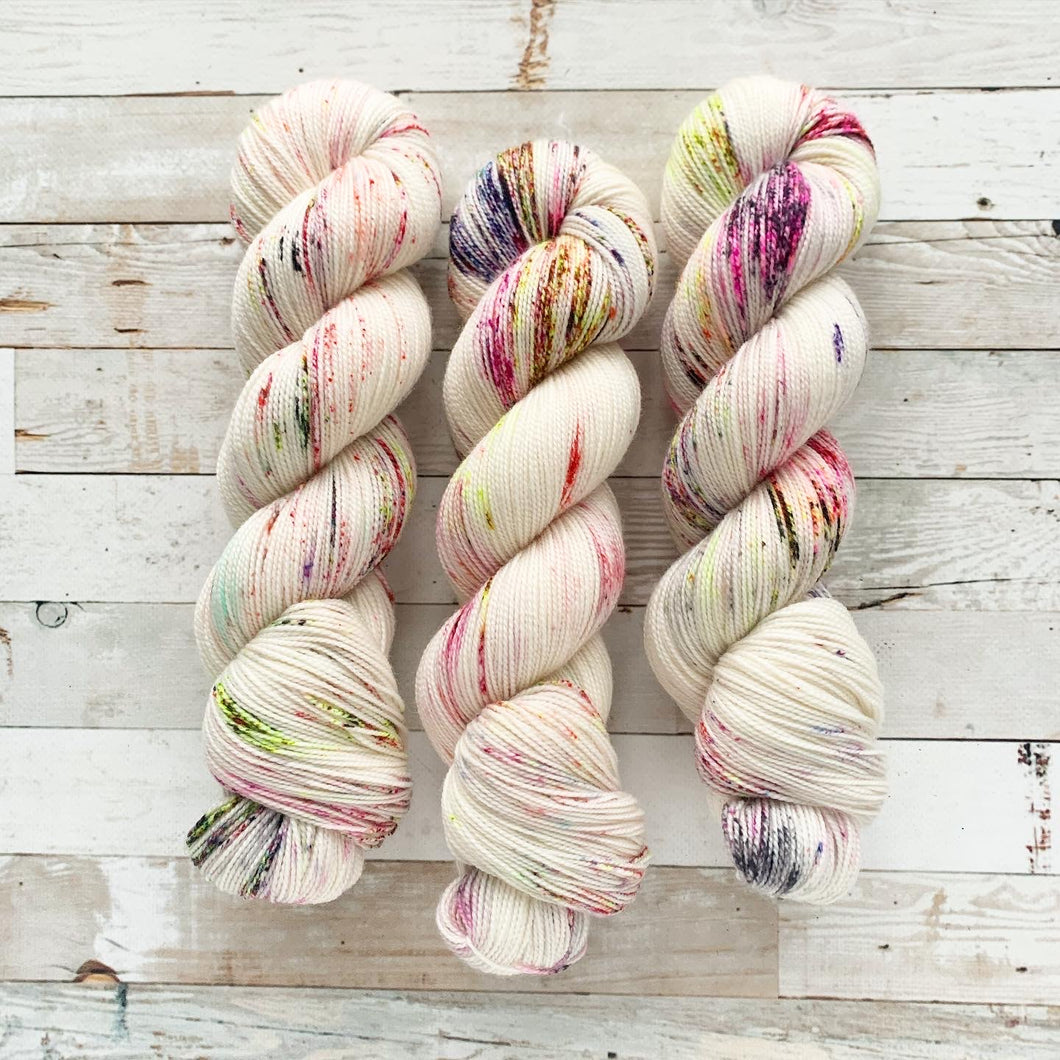 mermaid marshmallows | 2-ply sock