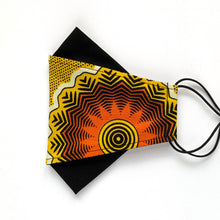 Load image into Gallery viewer, African Wax Block Print yellow/orange - A | masks