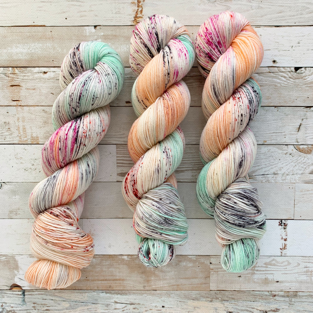 citrus mint | 4-ply sock