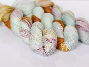 funky cold patina | 2-ply sock