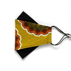 African Wax Block Print yellow/orange - B | masks