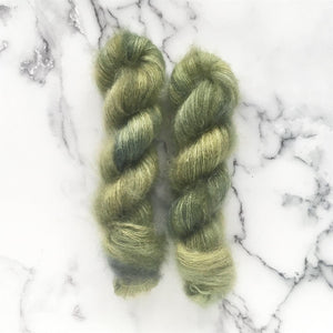 olive | mohair silk lace