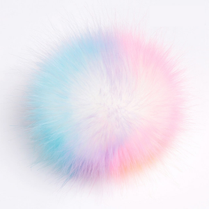 faux fur pom pom - rainbow (small) | extras