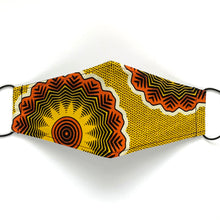 Load image into Gallery viewer, African Wax Block Print yellow/orange - B | masks