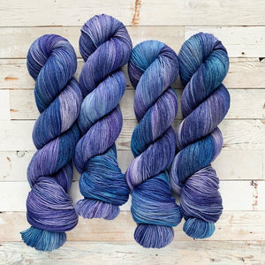 OOAK (one of a kind) - the blues | 4-ply sock