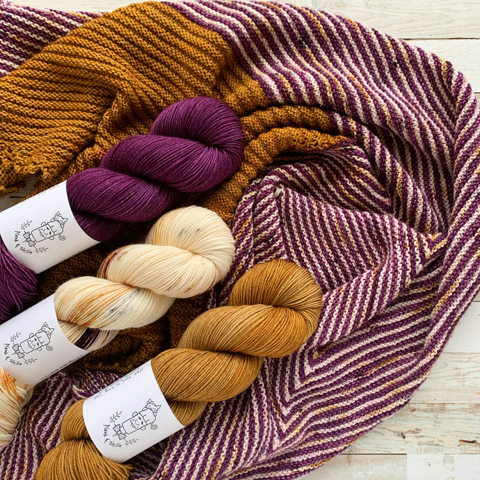 victoria, the owlery, honey - 3 skein preorder | 4-ply sock