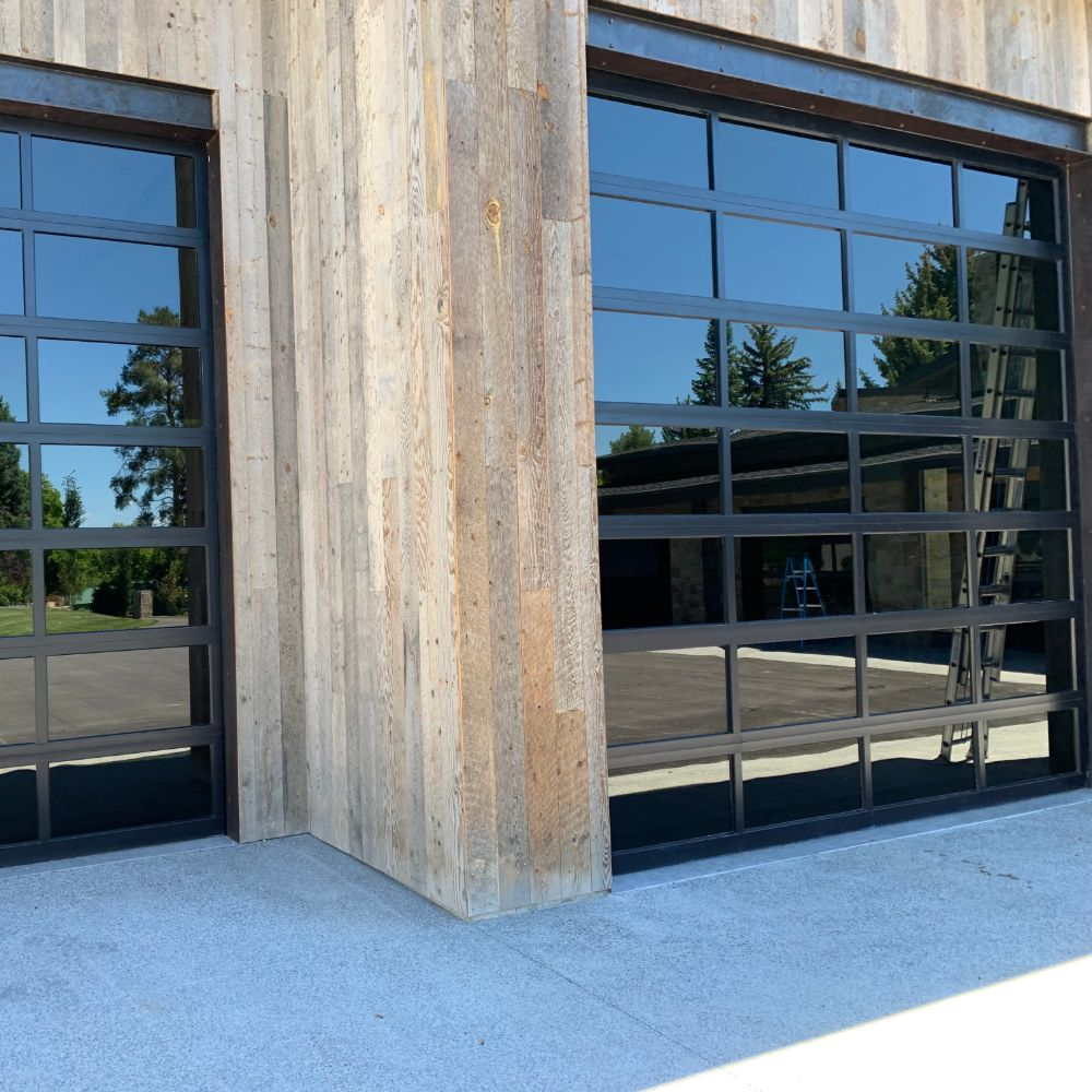 Garage Door with many Glass windows