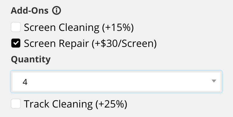 Ease Window Cleaning Add-on's