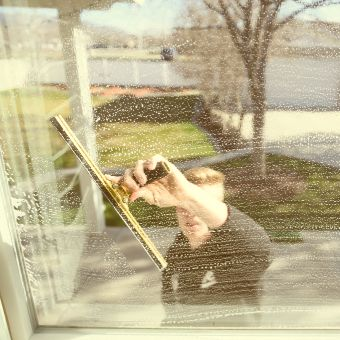 Window Cleaning Squeegee Glass