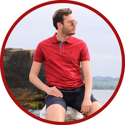 Novel Touch Bordo Red Polo T-Shirt