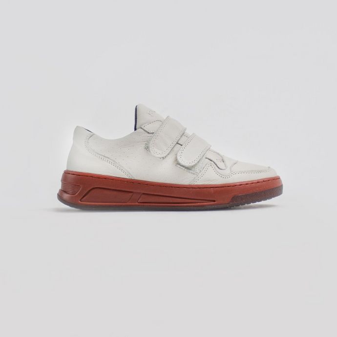 Zapatilla Old-Cosmo Velcro  Off White-Rust