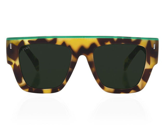 Gafas Soleil Green Tortoise with Top Line