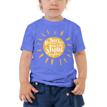 "Load image into Gallery viewer, ""Your presence make the world shine brighter"" Toddler Short Sleeve Tee"