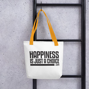 "Original ""Happiness is just a choice.com"" Tote bag"