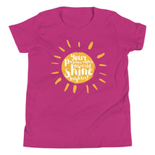 Load image into Gallery viewer, Your Presence Makes the World Shine - Youth Short Sleeve T-Shirt