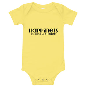 """Happiness is just a choice"" Baby suit"