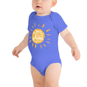 """Your Presence makes the world shine brighter"" Baby Suit"