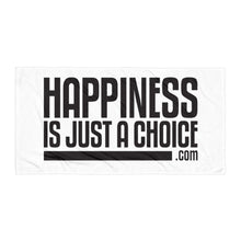 "Load image into Gallery viewer, Original ""happiness is just a choice.com"" Towel"