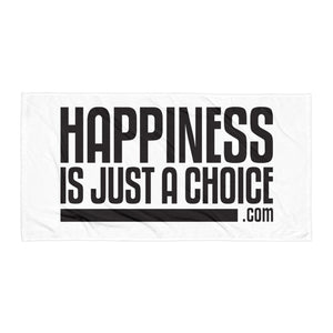 "Original ""happiness is just a choice.com"" Towel"