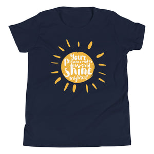 Your Presence Makes the World Shine - Youth Short Sleeve T-Shirt