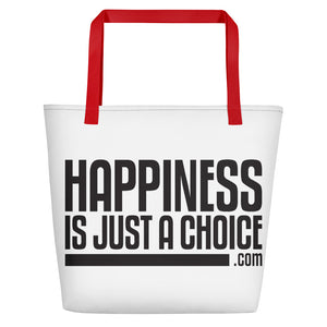 """Happiness is just a choice.com"" Beach Bag"