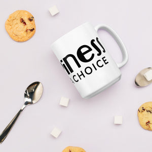 """Happiness is just a choice""  Double side Mug"