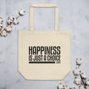 "Original ""Happiness is just a choice.com"" Eco Tote Bag"