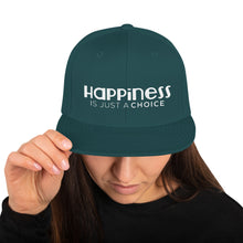 "Load image into Gallery viewer, ""Happiness is just a choice"" Snapback Hat"