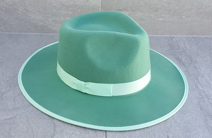 'BURLEIGH BEACH' Fedora - Mint Green