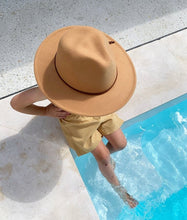Load image into Gallery viewer, 'FINGAL BEACH' Fedora - Camel