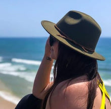 Load image into Gallery viewer, 'FINGAL BEACH' Fedora - Olive Green