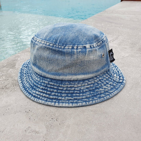'THE BRUNSWICK' Bucket Hat - Denim Stonewash