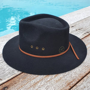 'THE SHACK' Fedora - Black