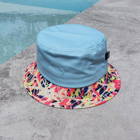 'THE RETRO' Bucket Hat - Blue