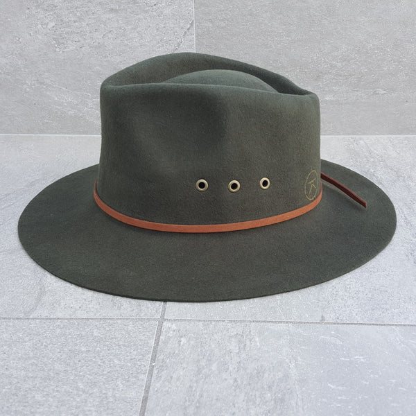'THE SHACK' Fedora - Olive Green