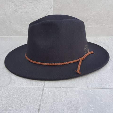 'FINGAL BEACH' Fedora - Black