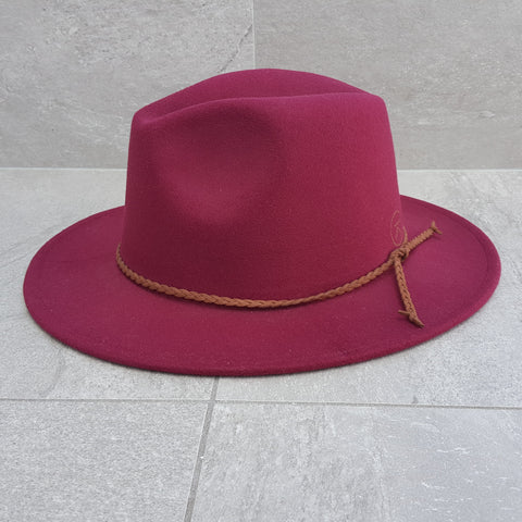 'FINGAL BEACH' Fedora - Wine Red