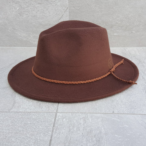 'FINGAL BEACH' Fedora - Brown