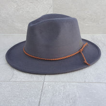 Load image into Gallery viewer, 'FINGAL BEACH' Fedora -Dark Grey