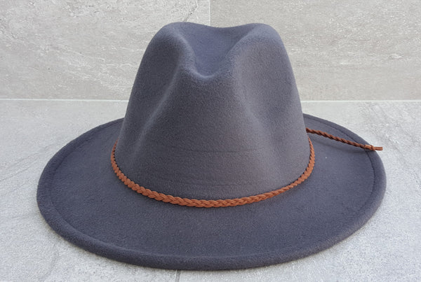 'FINGAL BEACH' Fedora -Dark Grey