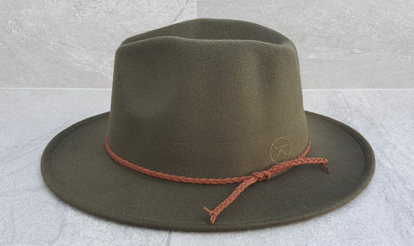'FINGAL BEACH' Fedora - Olive Green
