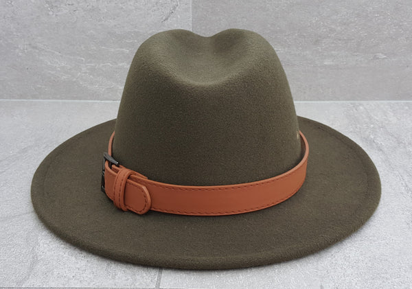 'REEF BREAK' Fedora - Olive Green