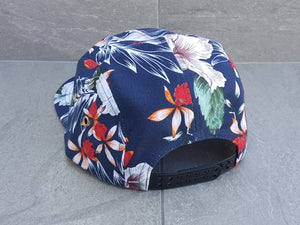 'THE KALANNI' 5 Panel - Hibiscus Blue