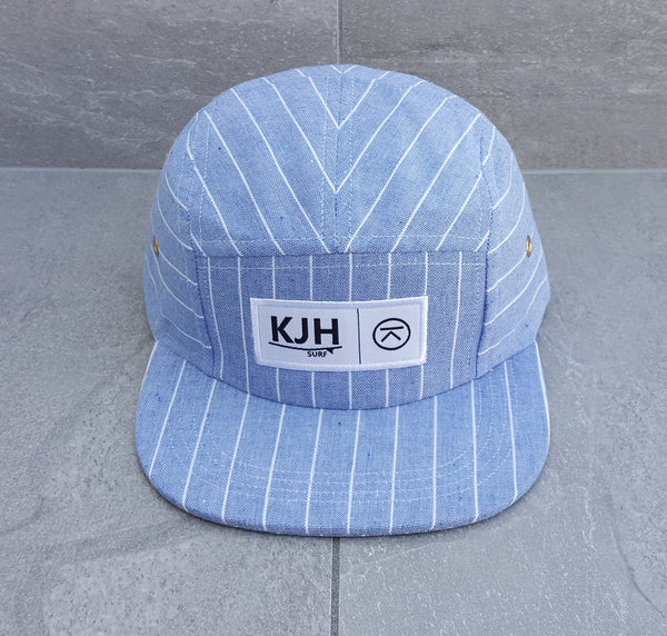 'THE KALANNI' 5 Panel - Reef Blue Stripe