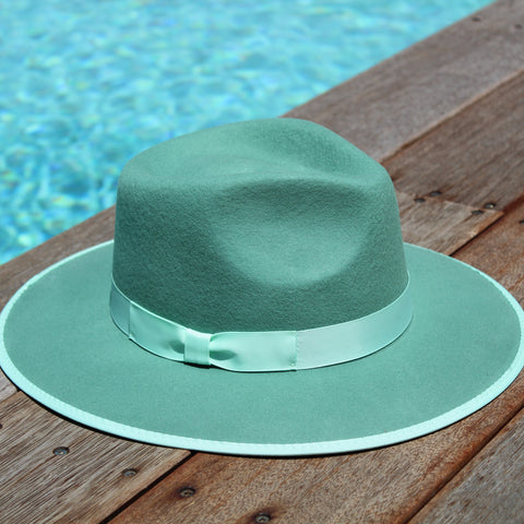 'BURLEIGH BEACH' Fedora - Mint Green ON SALE